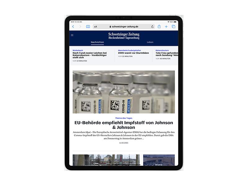 E-Paper-Abo Schwetzinger Zeitung / Hockenheimer Tageszeitung